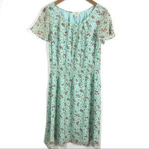 3/$25 Sundance Silk Floral Dress Size 14 Petite